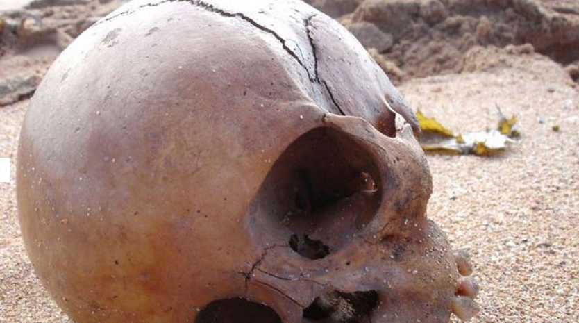 The skull of a child, believed to be 1,000-years-old, was discovered on Mona Vale beach, in Sydney, in 2008