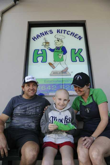Owners of Grafton's Hank's Bakery Aaron Hancock and N'dea Skeels have opened their business arms and heart this week to support the 'Little Wings Charity' and Sam Carroll by donating 50 cents from each product sold. Photo Debrah Novak / The Daily Examiner