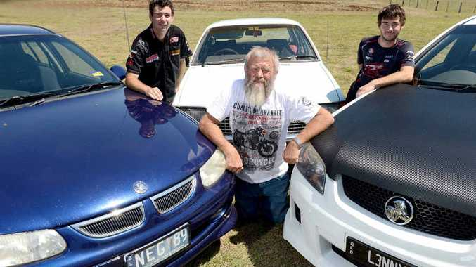 FAMILY FANS: Ted Griffiths from Roadvale drives one of the original Commodores, a 1980 VC, while his sons Nathan (left) drives a 1997 SS VT and Lenny drives a 2007 SS VE.