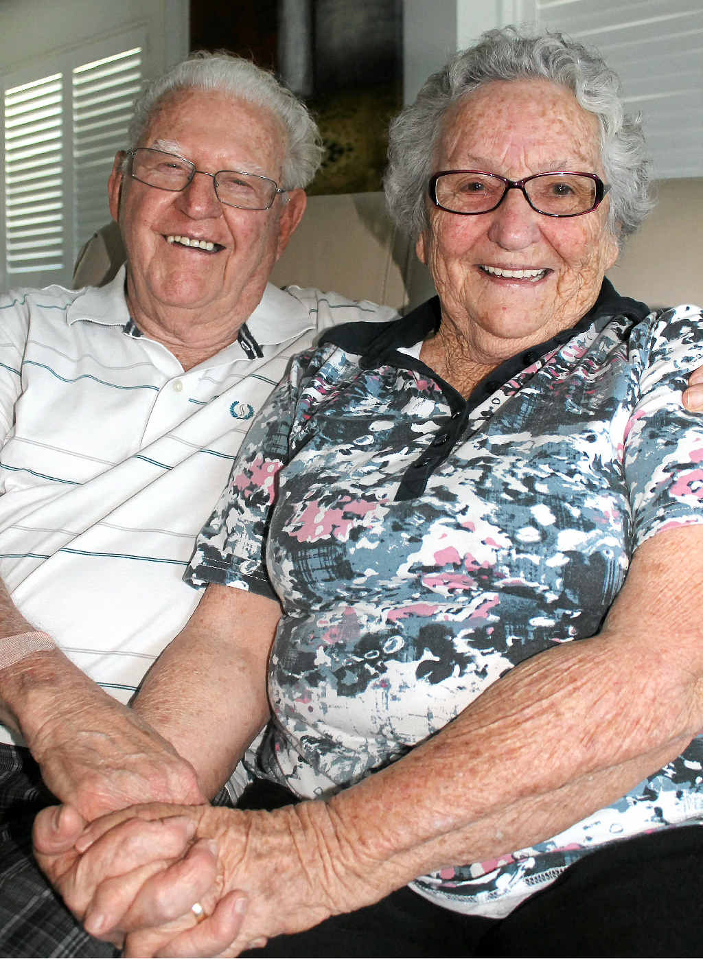 LONG MARRIAGE: Bill and Audrey Stephen, from Ballina, still together after 70 years.