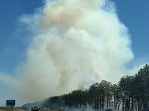 Highway bushfire