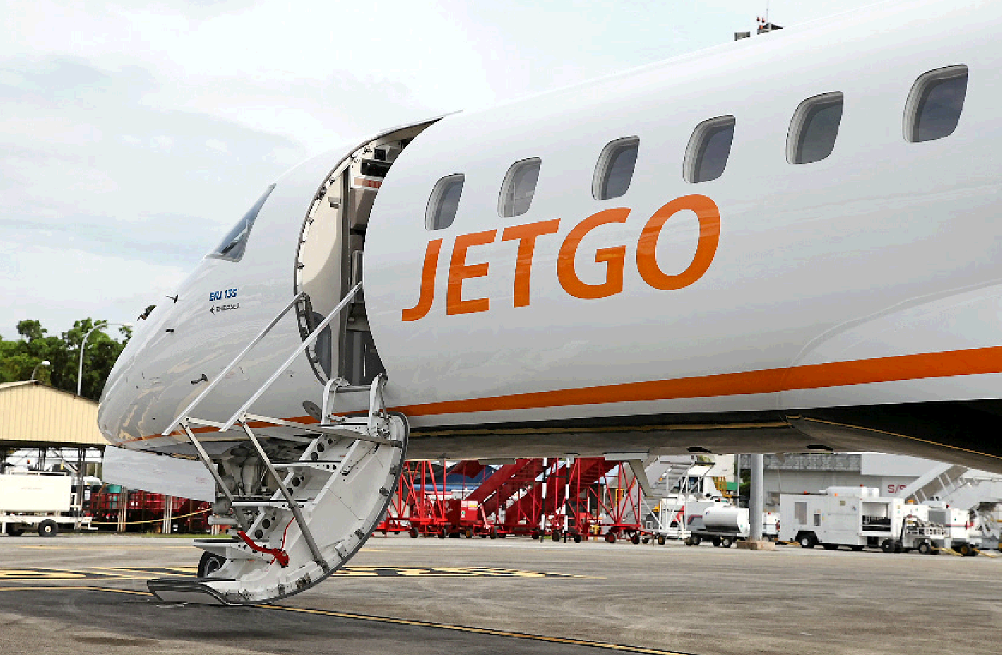 JetGo will bring one of its aircraft to Gladstone on Friday.