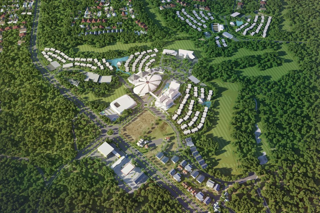 Shots of the Dusit Thani Brookwater Golf and Spa Resort that will be built overlooking Brookwater Golf Course. Photo: Contributed