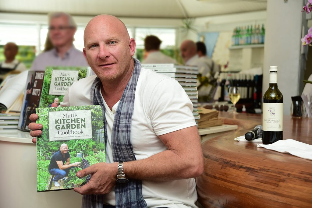 Celebrity chef Matt Moran with his new cookbook.