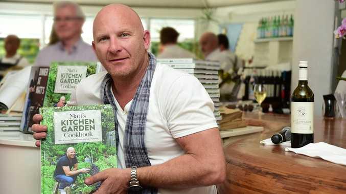 Celebrity chef Matt Moran with his new cookbook.
