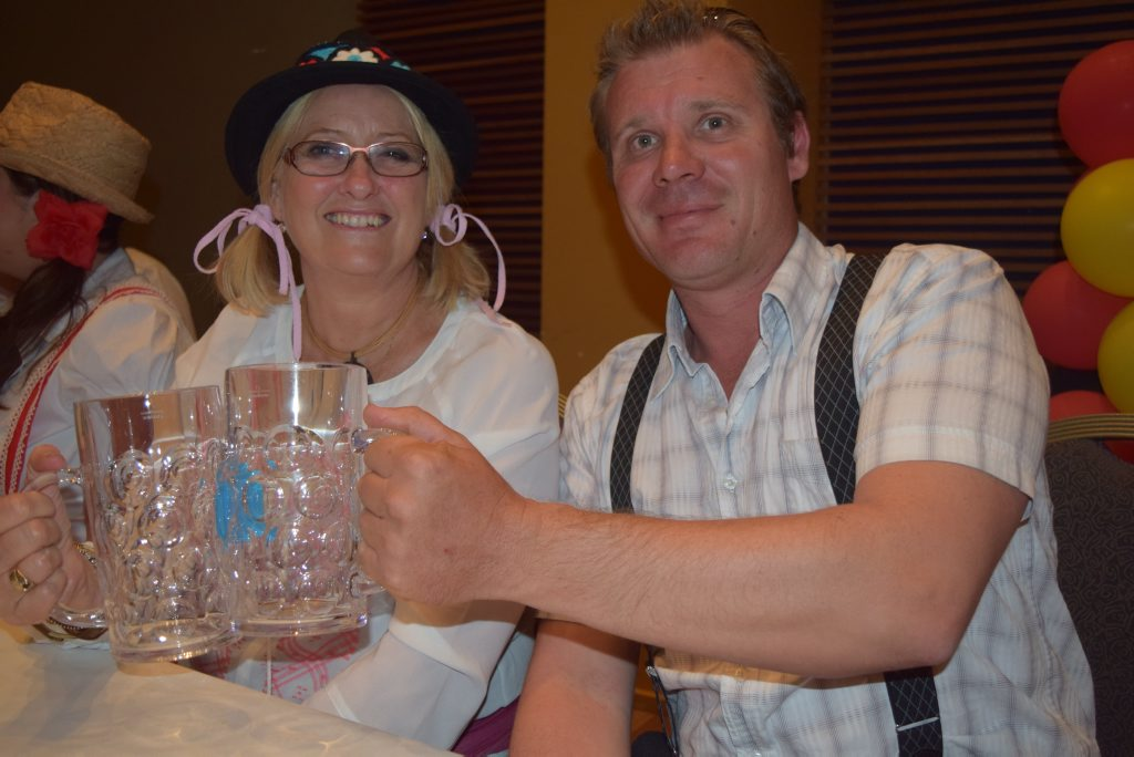 Kaye Maguire and Blair Fraser at last year's Oktoberfest celebrations.