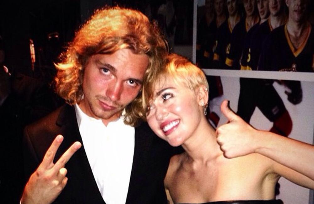 Jesse Helt and Miley Cyrus