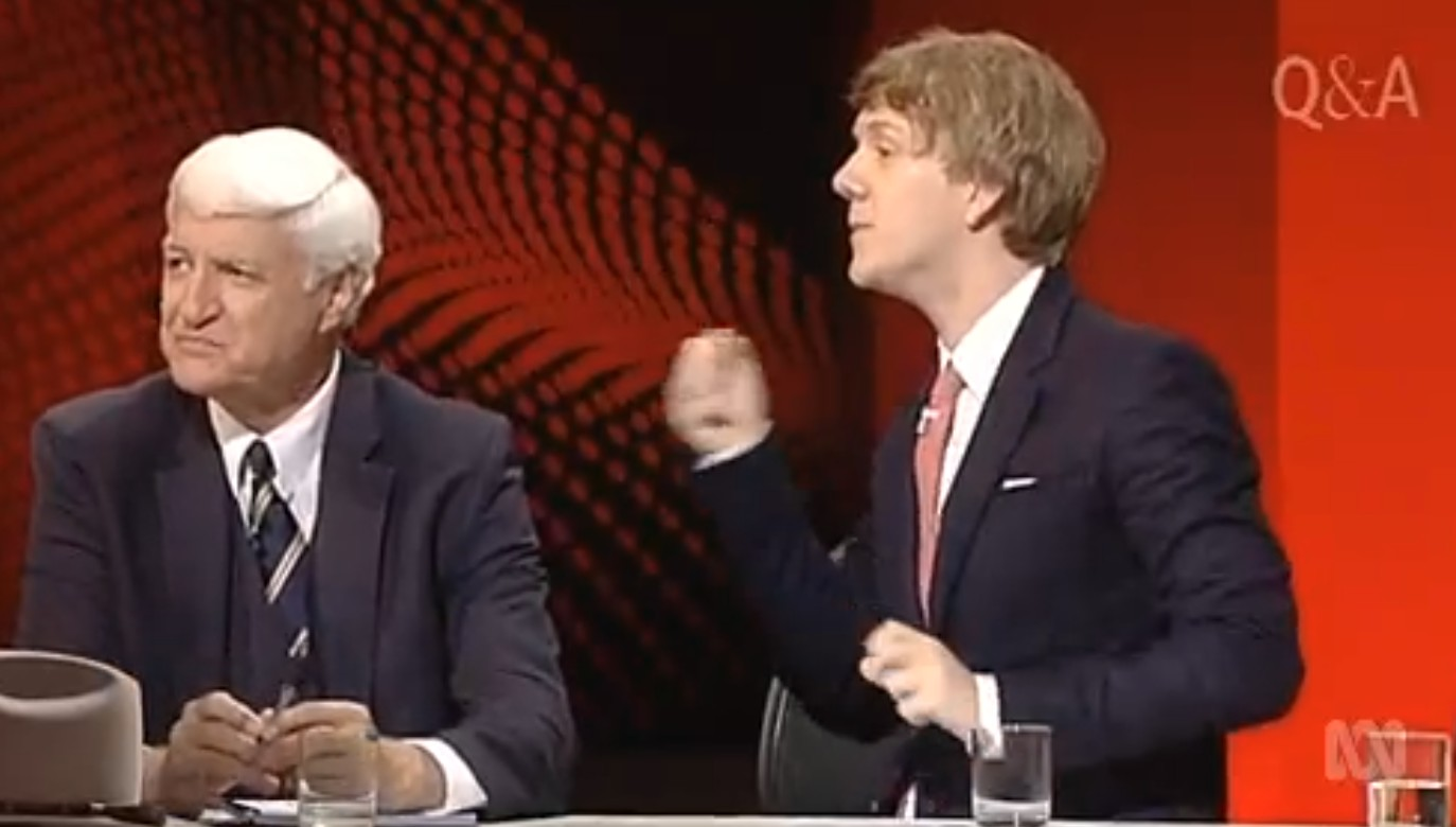Josh Thomas slams Bob Katter on Q&A; in relation to gay comments.
