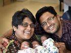 Parents Devang and Krishna Mishra with their triplets (from left) Vashisth, Ananya and Aditya.