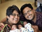 Triplets born to first-time parents