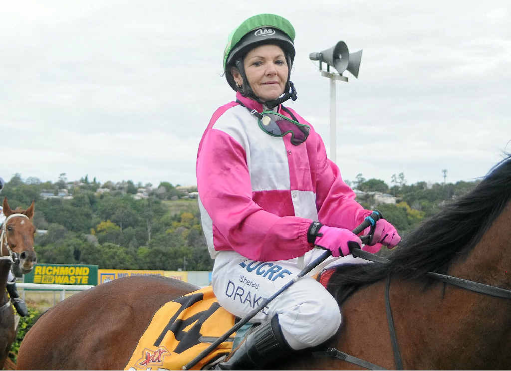 CONTROVERSY: Jockey Sheree Drake was dislodged from her mount, Midnight Ace, at the Nanango races on Saturday.