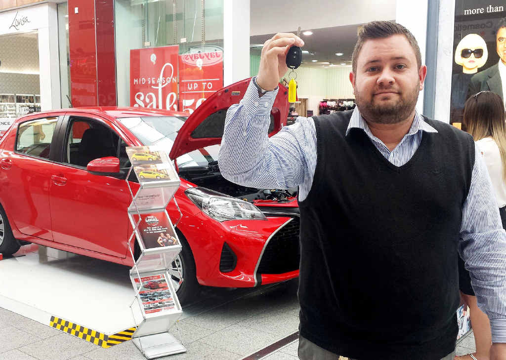 DRIVING DEMAND: Llewellyn Motors business development manager Matthew Taylor-Farrington at the dealership's outlet at Orion Springfield Central.