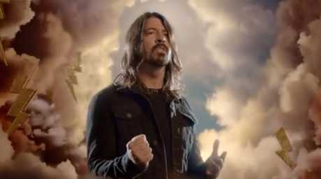 Dave Grohl as a god of rock and roll