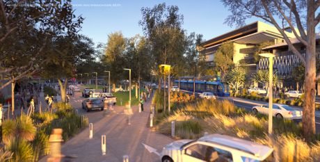 Artist impression of the proposed light rail project