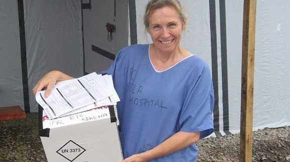 57-year-old Sue-Ellen Kovack tested negative for Ebola in the Cairns Hospital last week.