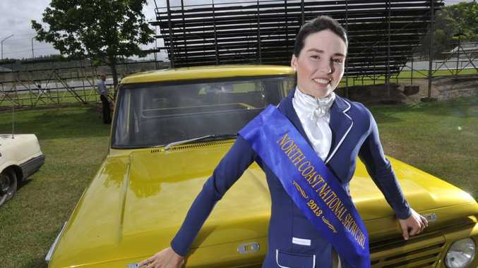 2013 Showgirl Mykaella Gosper is excited about the flurry of events at this year's show which will include horses and cars. Photo Marc Stapelberg / The Northern Star