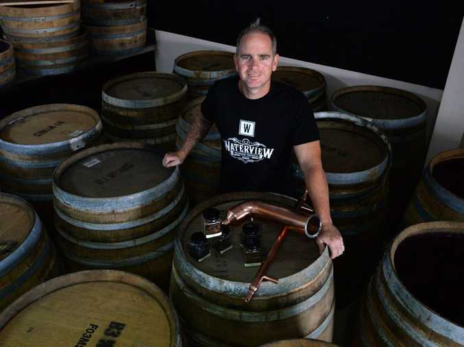 NEW DISTILLERY: Rick Prosser inside the new Waterview premises in next to Schmeiders Cooperage. Photo: Mike Knott / NewsMail