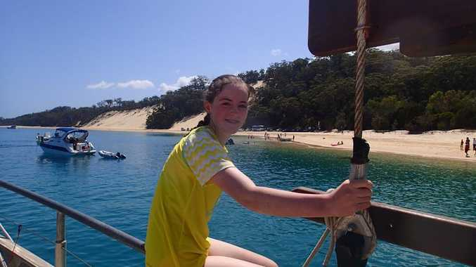 Toowoomba teenager Erin Higgins went on the South Passage sailing ship. Photo Contributed