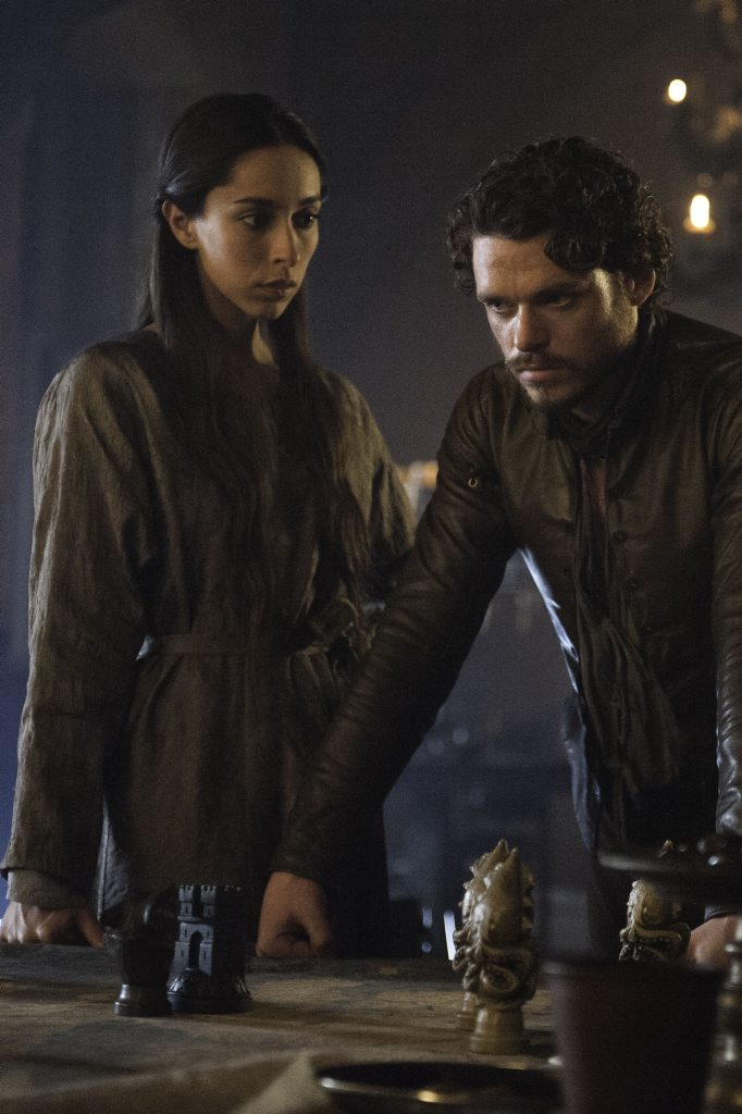 Oona Chaplin and Richard Madden in Game of Thrones.