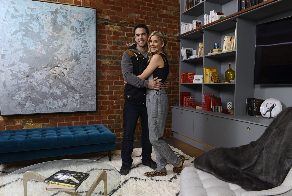 The Block Glasshouse's Michael and Carlene in their renovated apartment.