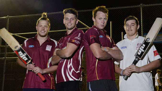 RISING HOPES: Centrals first division players Sam Strong, Caleb Risson, Cameron Howard and Matt Guest.