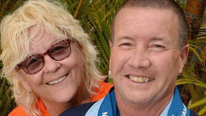 WINNER: Goonellabah's Craig Robinson and his proud wife Trish.