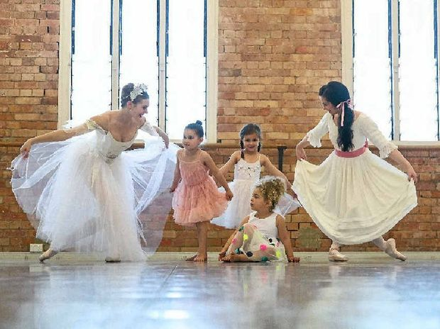 OPPORTUNITY: Gladstone's little ballerinas' chance to be part of the Queensland Ballet's 2015 season.
