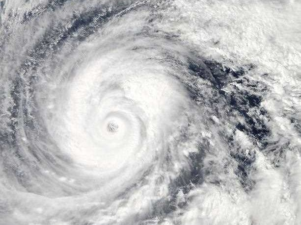 This October 9, 2014, satellite image from NASA shows Super Typhoon Vongfong in the Philippine Sea. Vongfong, the strongest tropical cyclone of 2014 with maximum winds of 165 mph (265.5kph), is forecasts to make landfall at the islands of Kadena and Okinawa on October 11 reaching mainland Japan on October 13.
