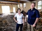 Pumpyard Bar and Brewery owner Wade Curtis (right) with executive chef Ali Orchard in the in the shell of the builing that will become the new bar and brewery.