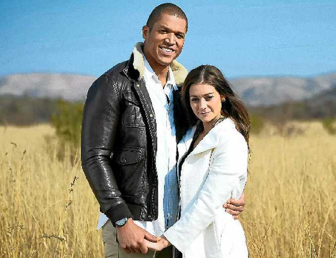 HAPPIER TIMES: Lisa Hyde and Blake Garvey in a scene from the TV series The Bachelor. She has no regrets about the way it all turned out.
