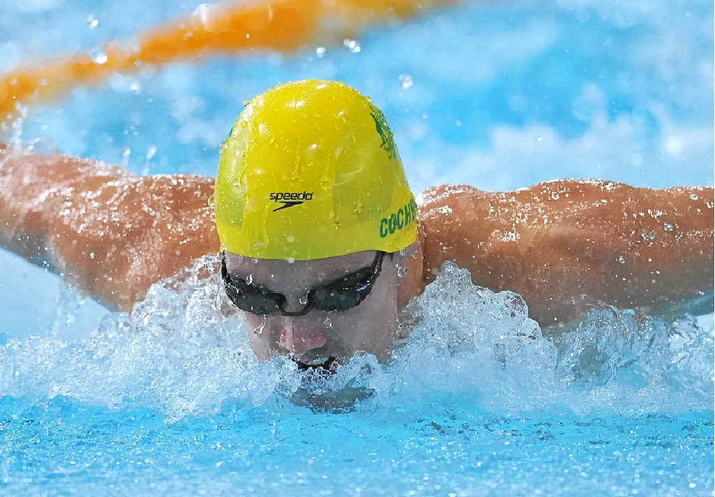 GOING SWIMMINGLY: Australia's Blake Cochrane in the Men's 200m Individual Medley SM8 Final at the Commonwealth Games in Glasgow.