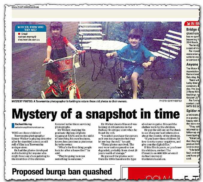 UNCANNY: The owner of the photos, which appeared in last Saturday's edition of The Chronicle, has come forward.