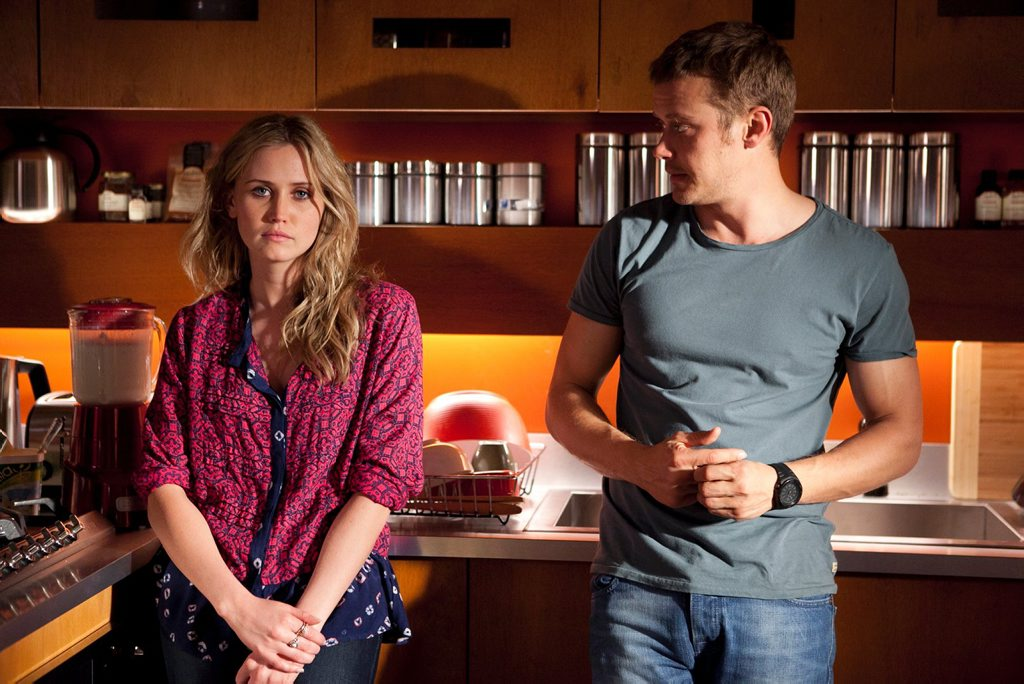 Anna Bamford and Michael Dorman in a scene from the TV series Wonderland. Supplied by Network Ten.
