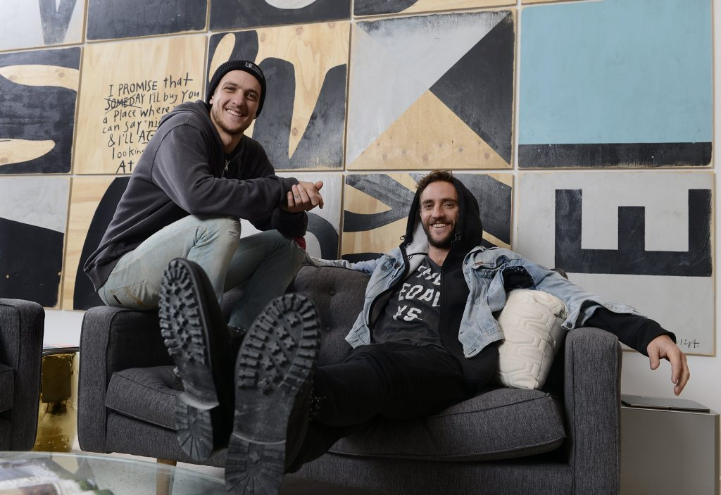 The Block Glasshouse's Shannon and Simon Vos in their winning apartment.