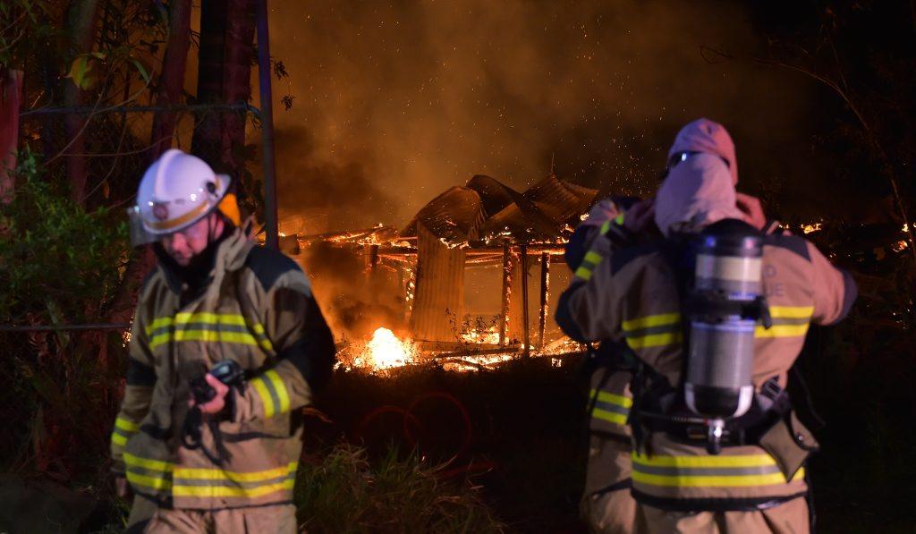 House fire on Old Maroochydore Road, Forest Glen. Photo: Brett Wortman / Sunshine Coast Daily