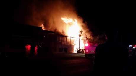 The unit block explosion at Owen St, Ballina on Friday, October 10.
