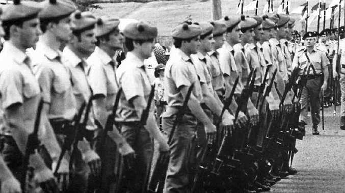 Members of the 41st Battalion at Tabulam Centenary, October 5, 1985