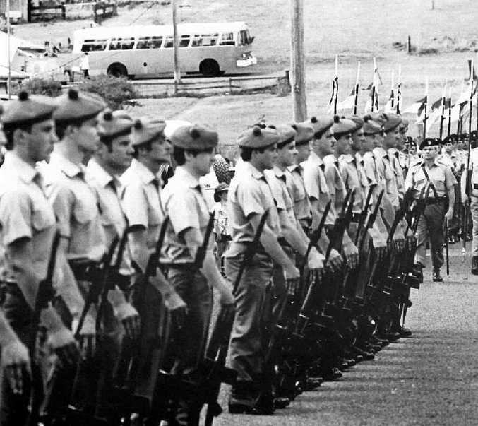 Members of the 41st Battalion at Tabulam Centenary, October 5, 1985