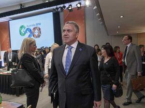 "Hockey warns Putin to expect ""full and frank"" words at G20"