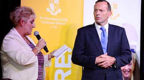 Member for Capricornia Michelle Landry and Australian Prime Minister Tony Abbott at Rockhampton Girls Grammar School for an afternoon tea. Photo Sharyn O'Neill / The Morning Bulletin