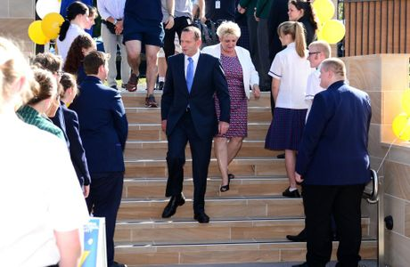 Australian Prime Minister Tony Abbott and Member for Capricornia Michelle Landry arrive at Rockhampton Girls Grammar School for an afternoon tea. Photo Sharyn O'Neill / The Morning Bulletin