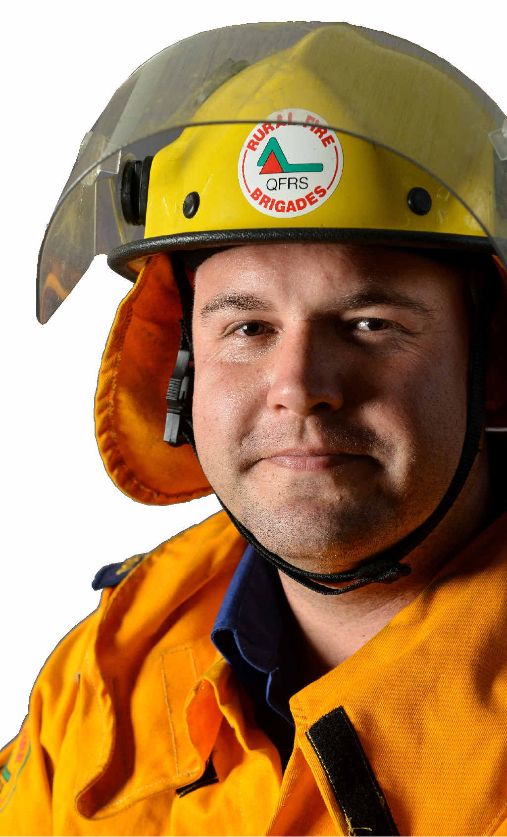 WELL WORTH IT: Gympie firefighter Michael Adamik loves the mateship of being in a brigade.