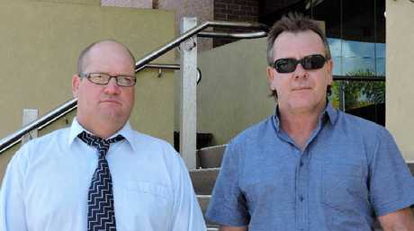 Former Thiess supervisors at Burton Downs Coal Mine Adrian Ward (left) and Allan Baker.