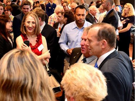 MEET AND GREET: Rockhampton residents, volunteers, students and business identities got the chance to meet Australian Prime Minister Tony Abbott during an afternoon tea at Rockhampton Girls Grammar yesterday.