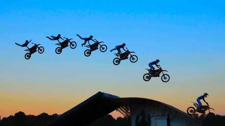 FMX Motocross at the Casino Show.