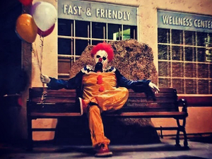 Creepy clowns terrorise residents in rural California