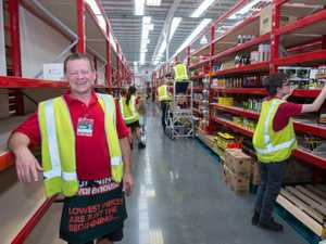 New Bunnings store, south Coffs. being stocked . complex manger Dean Dannevig.