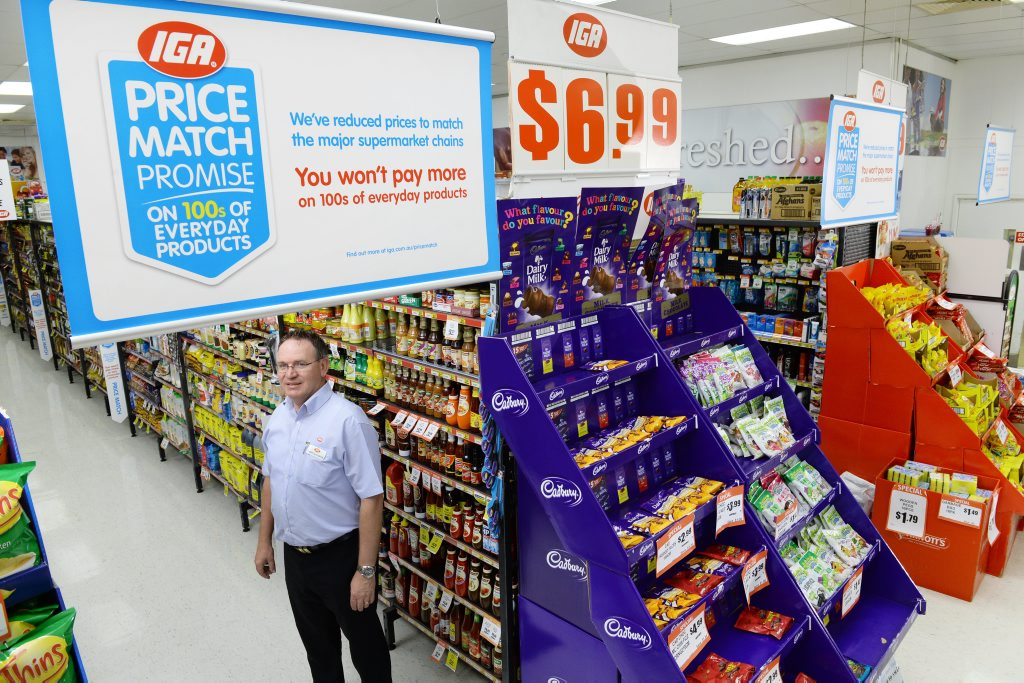 PRICING CHALLENGE: Springfield Lakes IGA owner Terry Slaughter.