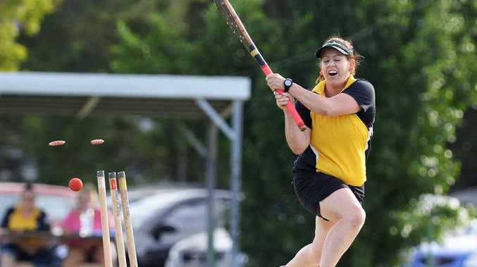 BOWLERS DOMINATE: Wildcats captain Rachel Savage is bowled out in Saturday's season-opening match at East Ipswich. Wildcats beat Sports by nine runs on the first innings.