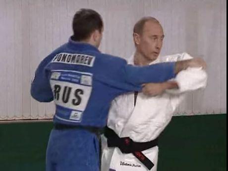 Vladimir Putin in action.